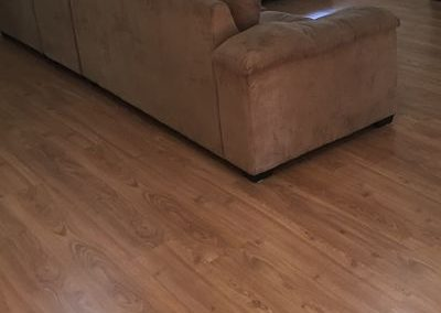 Laminate Clix Planked Natural Oak lounge room